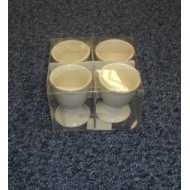 Ribbed Cream Egg Cups - Brand New Stock