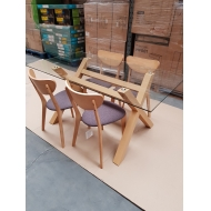 5 Piece Oak Dining Table & Chair Set - Brand new Stock