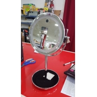 Double Rotary Stand Mirror with Led - Brand New Stock