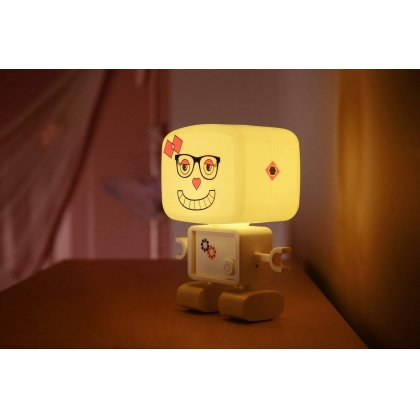 ROBOGLOW Light My Way Clap Activated Childs Rechargeable LED Night Light - Brand New Stock