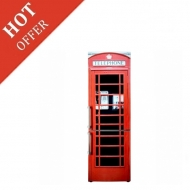 Hotpoint Vintage English Phone Booth Fridge freezers - Brand New Stock