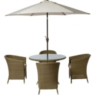Worcester 4 Seater Rattan Effect Garden Furniture Set - Brand New Stock