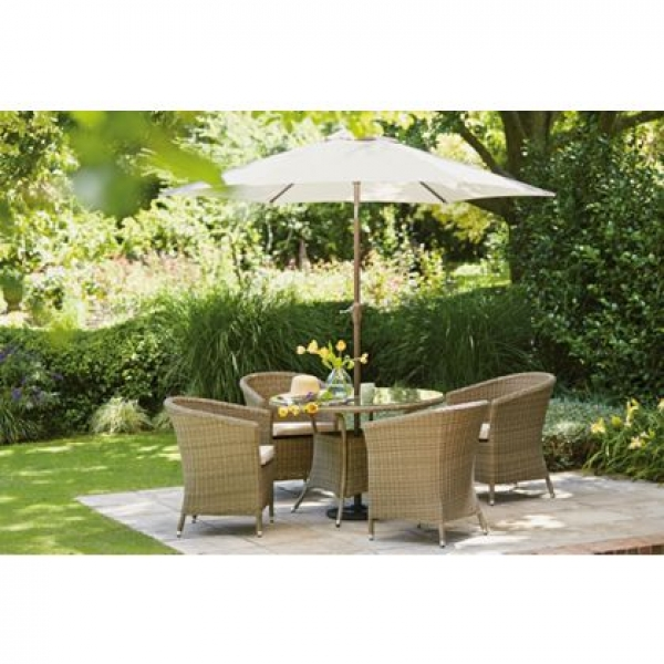 worcester 4 seater rattan effect garden furniture set brand new stock